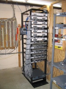 IP Office Rack Mounted Side View