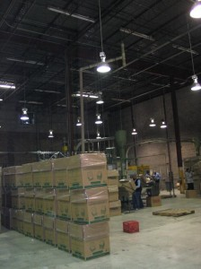 Overhead Loudspeaker Paging System Design Picture of High Ceiling Warehouse