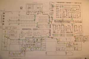 Overhead Loudspeaker Paging System Design Drawing Office & Warehouse Design