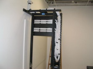 Complete Voice & Data Rack with Vertical Cable Management