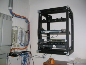 Swing Gate Wall Mount Data Rack